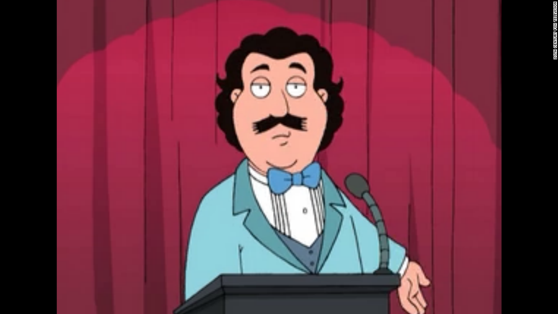 When Seth MacFarlane's animated character, Brian, went to Hollywood to try his hand at directing adult films, it only made sense that a cartoon version of the industry's top male porn star would show up at an awards ceremony.