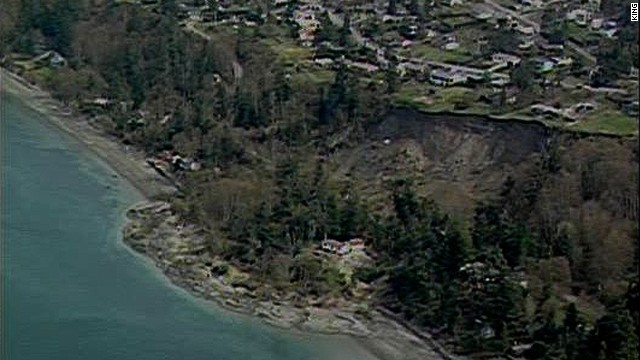 34 homes threatened by landslide