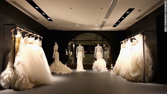 A general view is pictured at the opening of the Vera Wang bridal boutique in Sydney, Australia, on June 27.