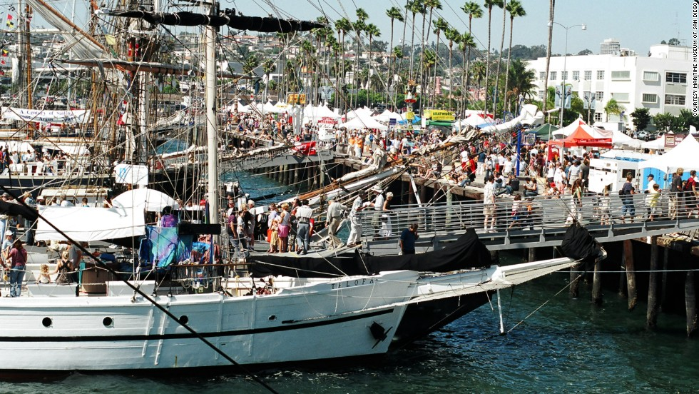 Fun pirate culture, memorabilia and a parade are also a part of San Diego's Festival of Sail.