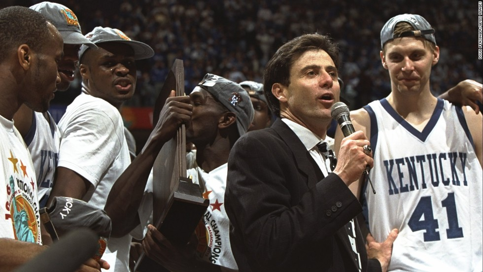 Pitino won a national championship with the Kentucky  Wildcats in 1996.