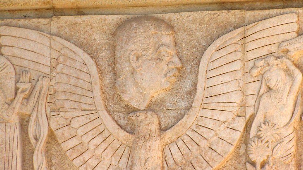 """Like Nebuchadnezzar, Saddam Hussein wrote his name on many of the bricks, with inscriptions such as: """"This was built by Saddam, son of Nebuchadnezzar, to glorify Iraq""""."""