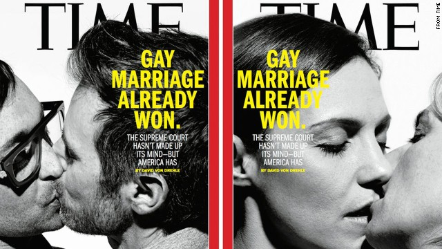 Time's most recent cover declares the same-sex marriage wars are over.