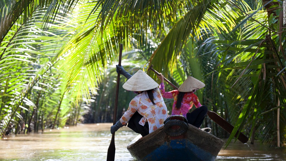 Head back to Indochina aboard an elegant river cruise traveling the Mekong River between Vietnam and Cambodia.