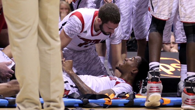 Louisville player's gruesome leg injury