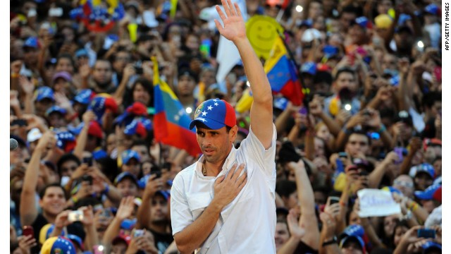Henrique Capriles Radonski, 40, is the opposition candidate for Venezuela's presidency.