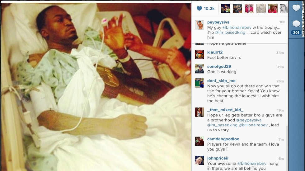 Peyton Siva posted a photo of Ware in the hospital with the trophy.