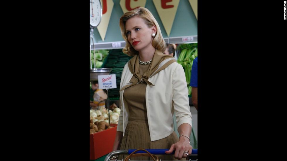 January Jones plays Draper's wife -- later ex-wife -- Betty.