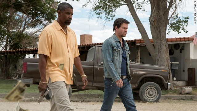 "Denzel Washington and Mark Wahlberg co-star in the action movie ""2 Guns."""