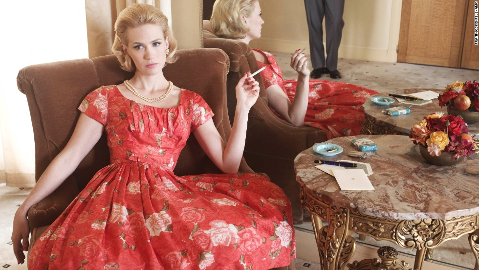 "Betty lounges in season 4 of ""Mad Men,"" set in 1964-65."