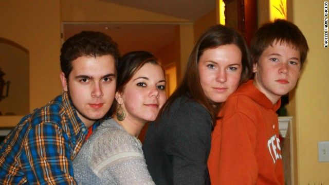 Trevor and his sister and cousins in December 2012.