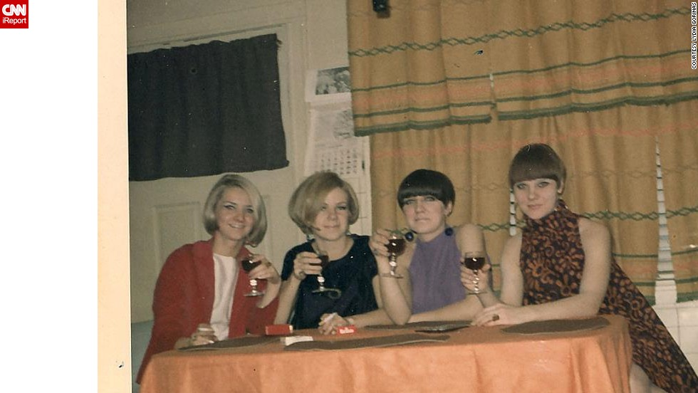 "<a href=""http://ireport.cnn.com/docs/DOC-947711"">Lydia Gorinas</a>, far right, her twin sister and her friends enjoy a Christmas Eve together in Chicago in 1967. ""I loved the '60s very much,"" Gorinas says. ""It was when 'mod' was a noun ... not an adjective as it is now."""