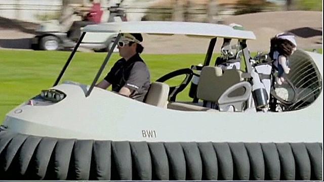 Watson unveils hovercraft golf cart