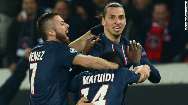 French club Paris Saint-Germain may have to pay hefty taxes on the salaries of star players such as Zlatan Ibrahimovic (center).