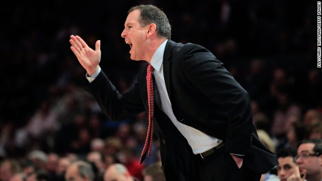 See Rutgers basketball coach flip out
