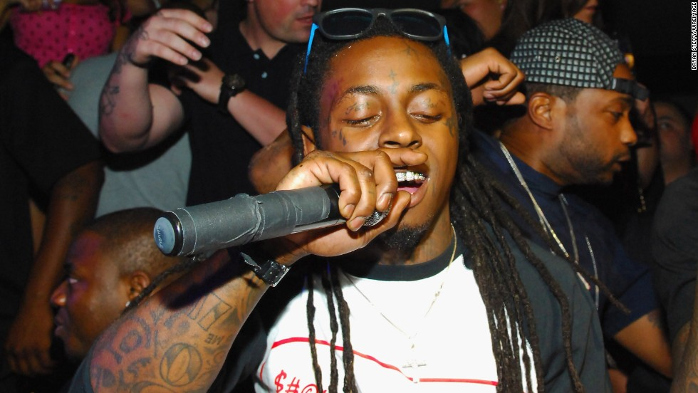 """Rapper Lil Wayne has tons of tattoos. Among them are the words """"fear"""" and """"God,"""" which have been etched on his eyelids."""