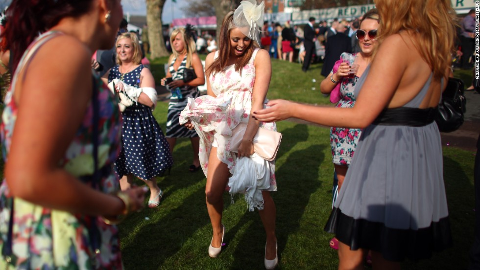 The meeting has a unique carnival atmosphere, with the local Liverpool crowd renowned for their flamboyant style and revelry.