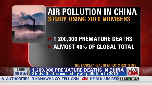 Smog in China kills millions prematurely