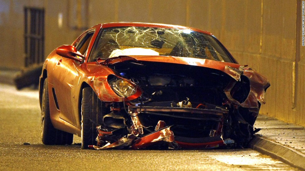 In 2009, Cristiano Ronaldo survived a high speed crash when his Ferrari collided with a barrier near Manchester Airport.