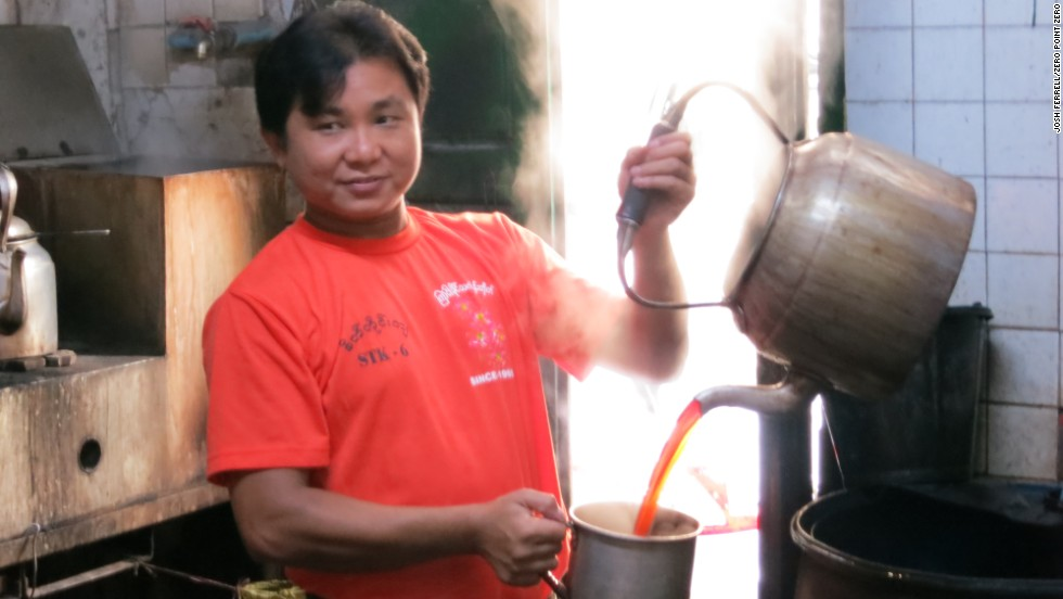Tea shops are an integral part of daily life across Burma.