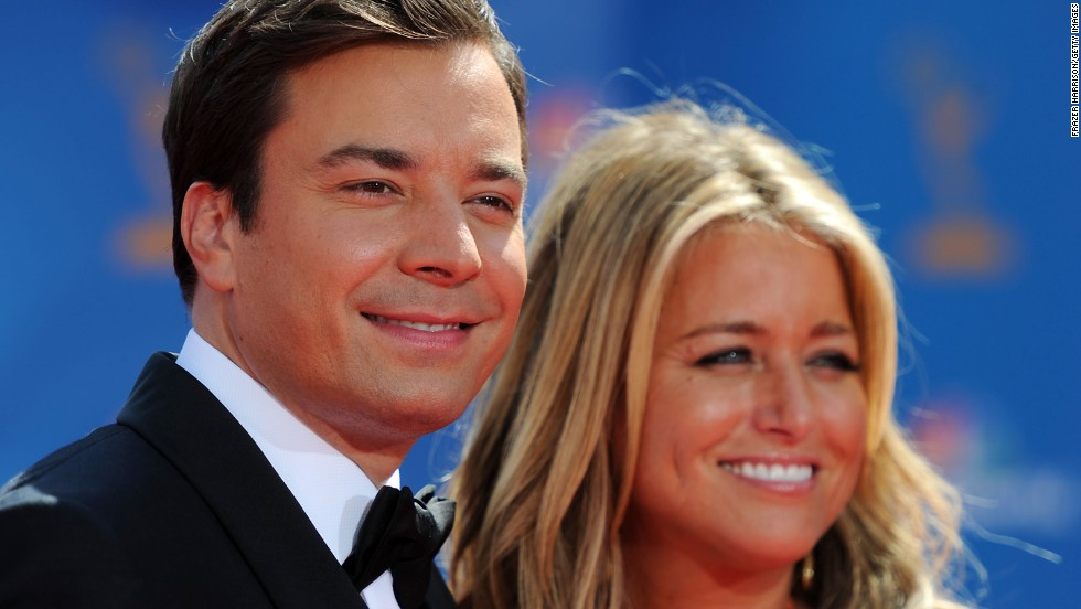 "Jimmy Fallon, who hosts the talk show ""Late Night with Jimmy Fallon,"" will be taking over NBC's ""The Tonight Show""  in spring 2014. Fallon -- here with his wife, producer Nancy Juvonen, in 2010 -- started his entertainment career as a cast member on ""Saturday Night Live"" from 1998-2004 and has been in the spotlight hosting award shows and appearing in movies."