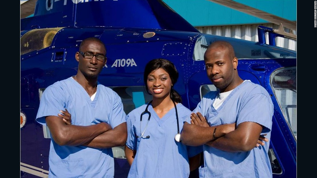 Olamide Orekunrin (center) is the founder of Flying Doctors Nigeria, the first air ambulance service in West Africa.