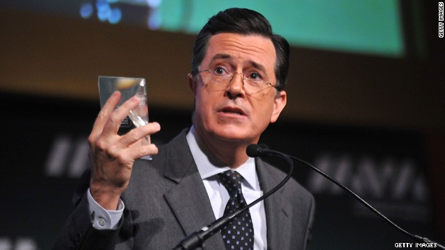 Colbert under fire for security speech