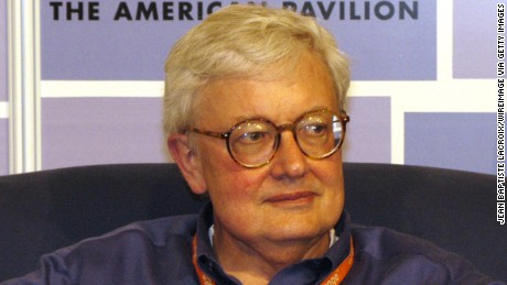 Roger Ebert during 2003 Cannes Film Festival - Roundtable with Roger Ebert at the American Pavilion at The American Pavilion in Cannes, France. (Photo by Jean Baptiste Lacroix/WireImage)