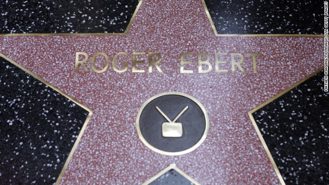Roger Ebert's star during Roger Ebert Honored with a Star on The Hollywood Walk of Fame for His Achievements in Television at 6834 Hollywood Blvd in Hollywood, California, United States. (Photo by Mathew Imaging/FilmMagic)