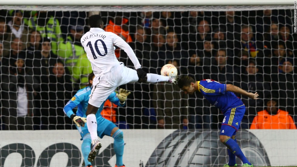 Emmanuel Adebayor halved the deficit before the break as Spurs hit back, while Scott Parker missed a glorious opportunity to equalize after shooting wide of an open goal.