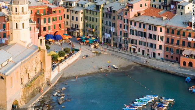 Vernazza is one of the five fishing villages that make up the Cinque Terre.