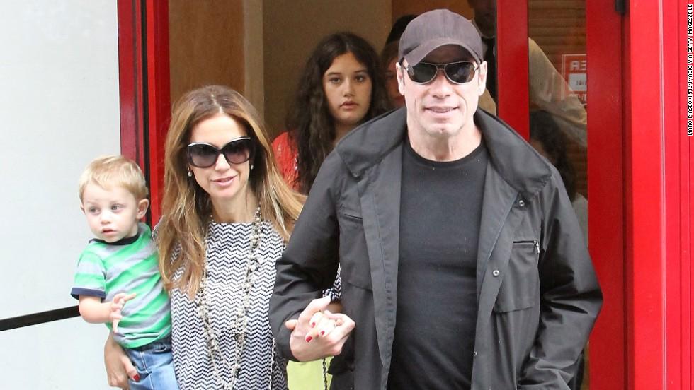 Kelly Preston was 47 when she and husband John Travolta welcomed Benjamin.