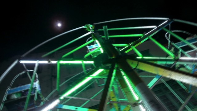 Human-powered Ferris wheel