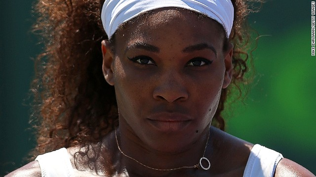Serena Williams continued her title defense in Charleston with victory over her older sister Venus in under an hour.