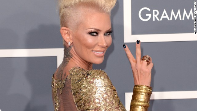 Actress Jenna Jameson arrives at the 55th Annual GRAMMY Awards at Staples Center on February 10, 2013 in Los Angeles, California.