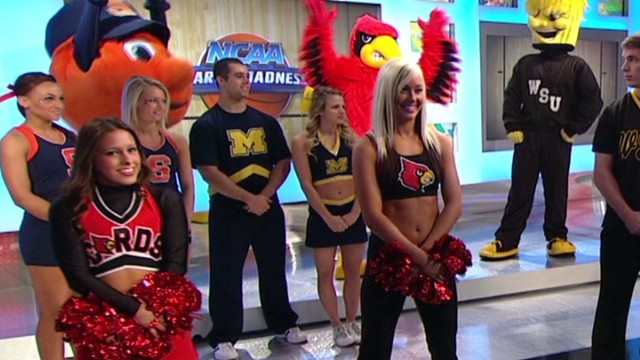 Final Four cheerleaders compete
