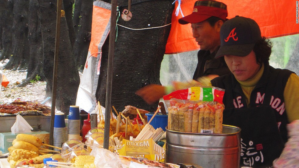 Cheap, abundant, varied and delicious, festival food carts supply a delicious selection of all things fried, grilled and glutinous.