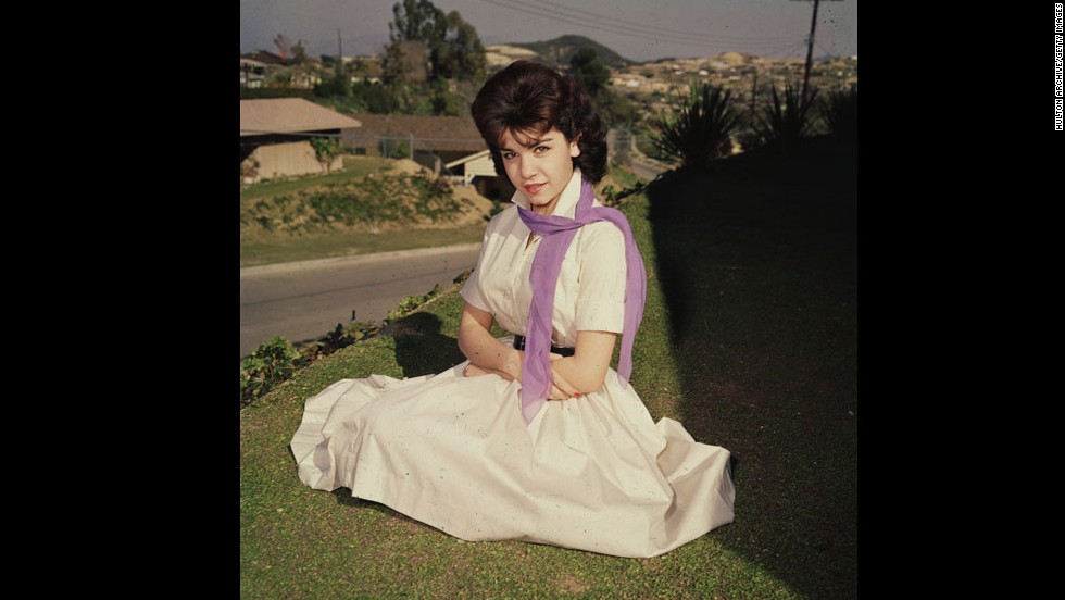 "<a href=""http://www.cnn.com/2013/04/08/showbiz/annette-funicello-obit/index.html"">Annette Funicello</a>, here in the mid-1950s, became famous as one of the original Mouseketeers on ""The Mickey Mouse Club."" Funicello, 70, died Monday, April 8, at a California hospital of complications from multiple sclerosis, the Walt Disney Co. said."