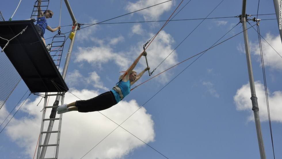 Take a leap with a lesson at New York's Trapeze School.