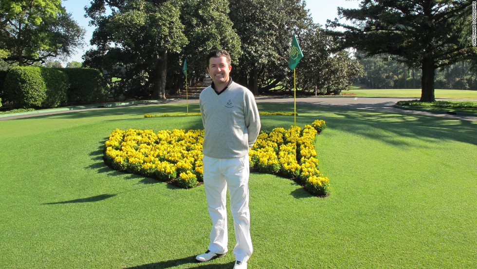 CNN's Living Golf host Shane O'Donoghue played at Augusta in 2005 after winning a lottery among journalists covering that year's Masters.