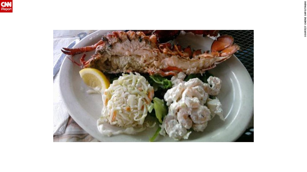"<a href=""http://ireport.cnn.com/docs/DOC-943731"">Cherie Capostagno</a> and her husband, Vince, drive from Pennsylvania to New Jersey when they want to feast on seafood. Their favorite restaurant, Klein's, serves up tenderly cooked lobster meat and comforting sides of coleslaw and seafood salad."