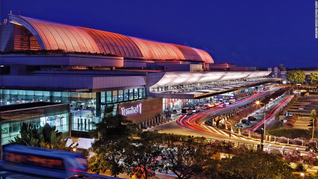 "<strong>1. Singapore Changi Airport --</strong> Singapore Changi Airport has retained the Skytrax World's Best Airport title for the fifth consecutive year. Passenger facilities include <a href=""http://edition.cnn.com/2016/02/02/aviation/airport-movie-cinemas-portland-pdx/index.html"">two 24-hour movie theaters</a> screening the latest blockbusters for free, a rooftop swimming pool and a butterfly garden."