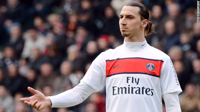 Paris Saint-Germain's Swedish forward Zlatan Ibrahimovic