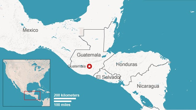 Map: Guatemala