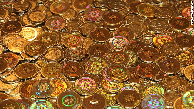 Stock images of physical Bitcoins that are available for purchase from the website www.casascius.com. Bitcoin is a decentralised digital currency.