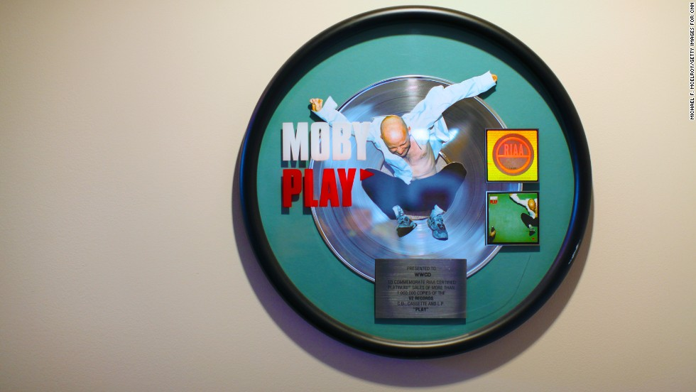 A Moby platinum record adorns one of the walls at the station.