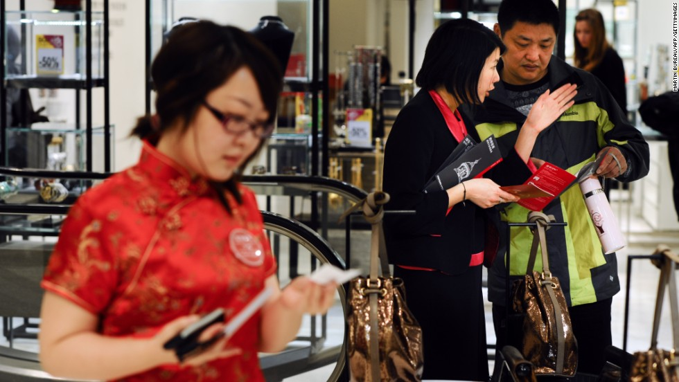 International travel industry sectors are attempting to adapt offerings to cater to Chinese tourists. Chinese-speaking shop assistants are a common sight at luxury department stores in Paris now.