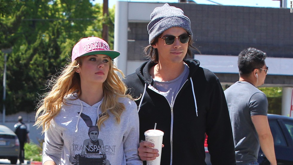 Ashley Benson grabs a bite with Tyler Blackburn.