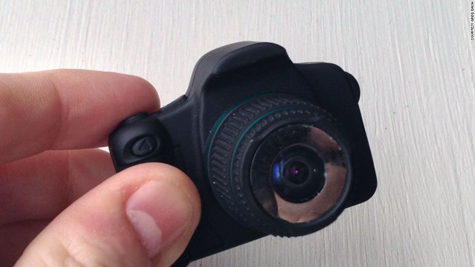 The Little Cyclops camera may be as small as average adult thumb, but it has powerful features, including a timelapse mode, 12 megapixel resolution and HD video recording capabilities.