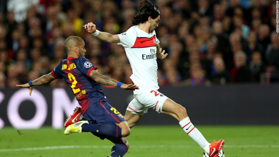 After wasting a whole host of chances in the first half, PSG finally made the breakthrough when Javier Pastore fired home five minutes after the interval. The Argentina international ran onto Ibrahimovic's through ball before beating Barcelona keeper Victor Valdes.